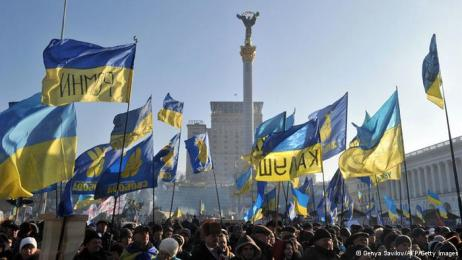 maidan ukranian flags