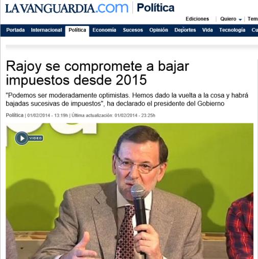 rajoy impuestos 2015 vanguardia
