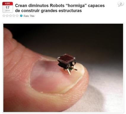 robots hormiga captura