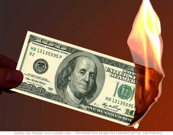100-dollar-burning