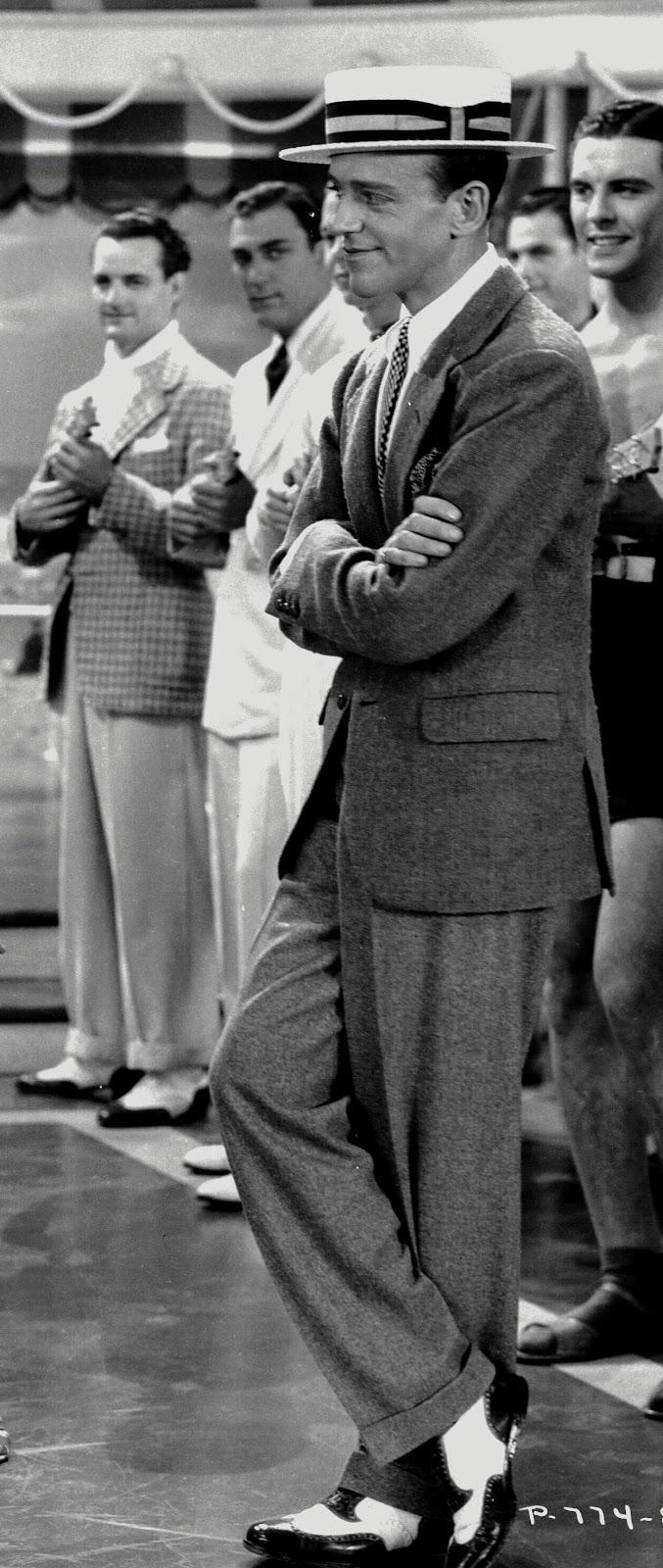 Vestimenta, estilos de baile y música de los años 20 (Ejemplos) Peli-fred