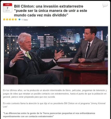 bill clinton extraterrestres