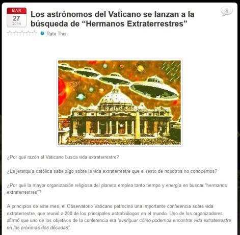 vaticano hermanos extraterrestres
