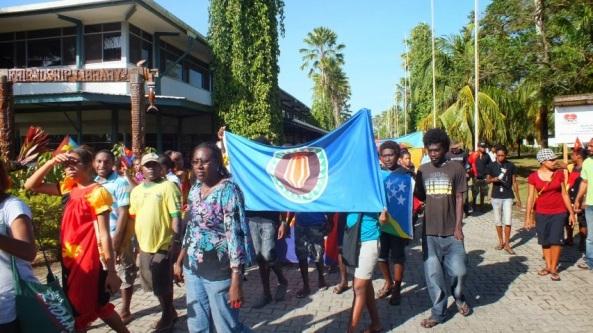 Bougainville flag celñebracion de la independencia