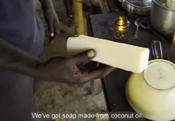 Jabón natural elaborado con aceite de coco