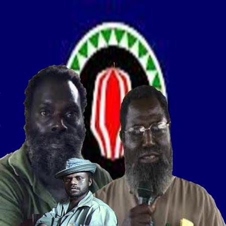 3 líderes emblemáticos de la Revolución de Bougainville. Francis Ona, izquierda; Ishmael Toarama, centro y abajo; Joseph Kabui, derecha