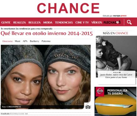 Típico ejemplo de expresion sin sujeto propia de las publicaciones de modas y tendencias