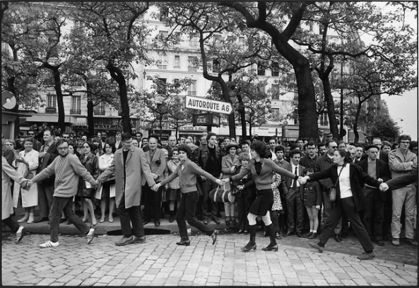 The 1968 May Events, on the way to the Charlety Stadium meeting, Place d'Italie, Paris, France, May 27, 1968